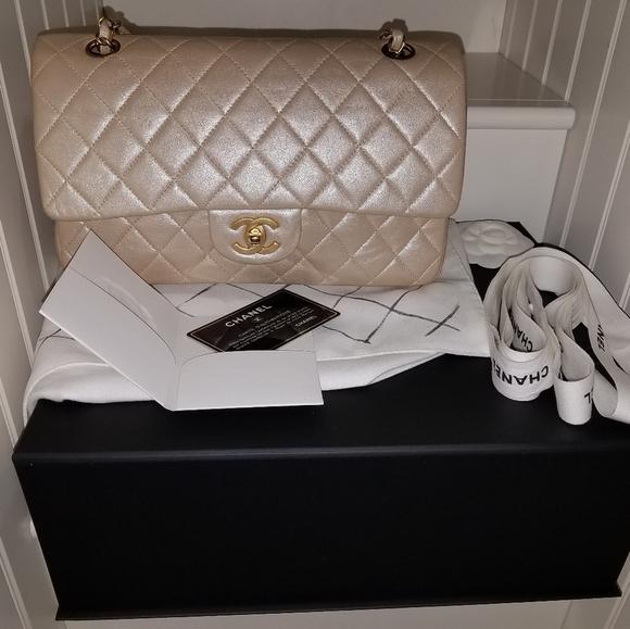 CHANEL Handbags - CHANEL Classic Medium Lambskin Double  Flap Bag